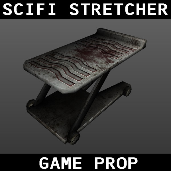 scifi stretcher obj free - Scifi Stretcher... by PancakeMan96