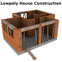 house construction 3d model