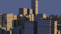 3d model city skyscrapers buildings