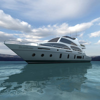 3d realtime yacht model