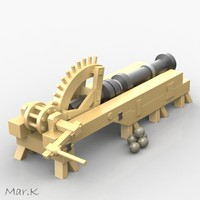 cannon leonardo vinci 3d model