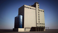 industrial building 3d 3ds