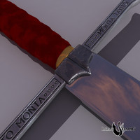 medieval sword catholic kings 3d obj