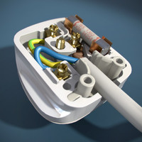 3ds max british electrical plug