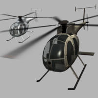 3d md-500 oh-6 helicopter model