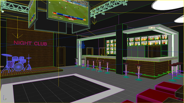 6 Sports Bar Interior Design Interior Sport Bar 3d Max Club Sport Bar Interior By Archyuriy