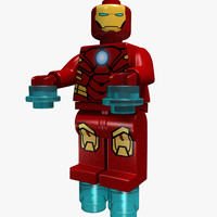 lego character 3d max