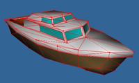 yacht 3d obj