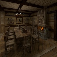 interior house hunter 3d model