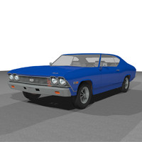 3d model car muscle chevelle