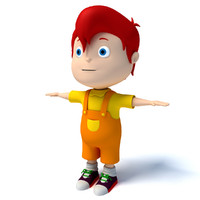 3d cartoon kid character