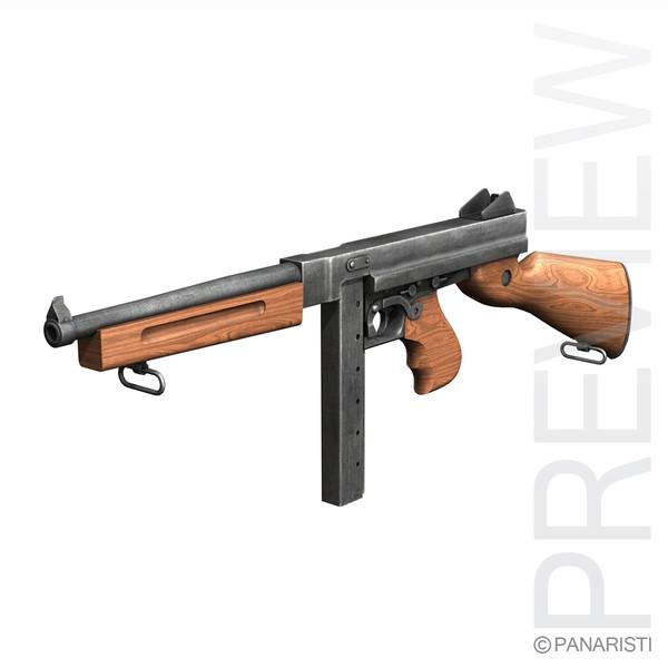 ww2 thompson machine gun