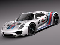 3d model of porsche 918 spyder martini