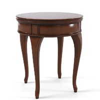 Round Side Coffe Traditional Table