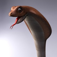 3d model cartoon cobra snake