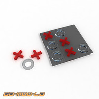 tic tac toe set 3d max