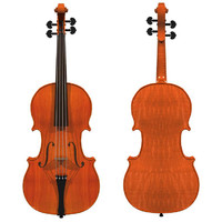 3d model violin wood finish