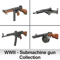 3d submachine guns ww2 thompson