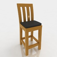 3d model bar stool leather