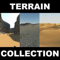 sand desert terrain 2 3d max