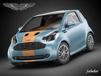 3d model aston martin cygnet racing car