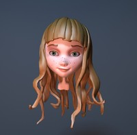 cute cartoon girl 3d max