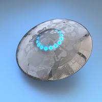 3d ufo sendercorp model