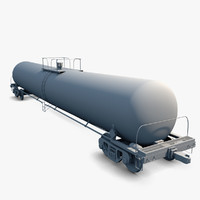 Train Tank Car Rolling Stock
