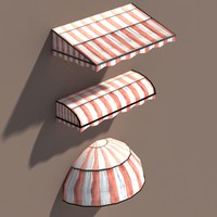 Awning Misc Architecture Low poly 3d Model