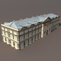 building exterior modelled 3d model