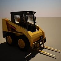 3d model of cat 236b fork lift