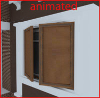 3d window blind model