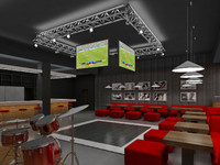 club sport bar interior