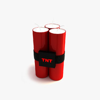 3d model candle tnt