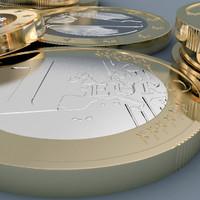 1 euro coin 3d max