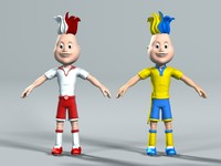 3d cartoon character football