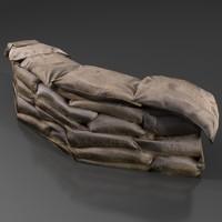 3d ready sandbags model