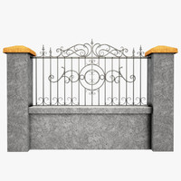 maya wrought iron fence metal