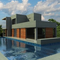 3d model contemporary house