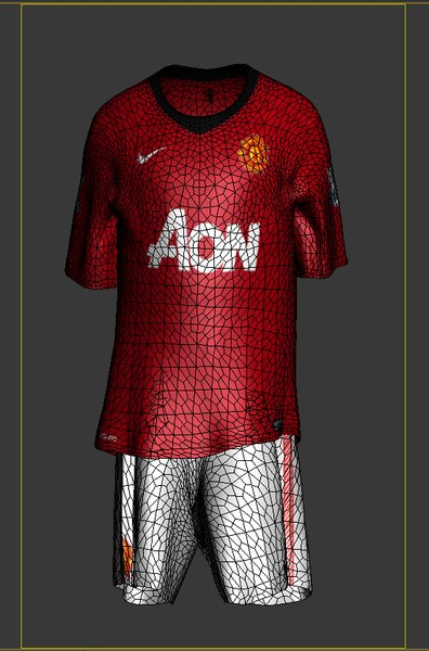 soccer kits animation manchester 3ds - Soccer Kits - Animated (Manchester United)... by Gkangames