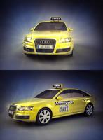 3d model taxi car