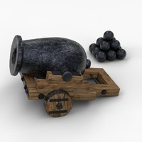 3d cannon limber model