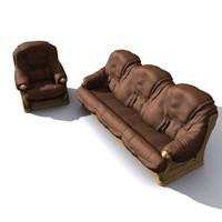 hi sofa couch 3d model
