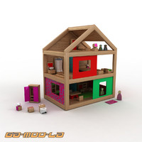 Toy Wooden Dolls House