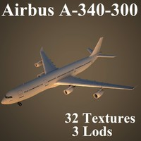 3ds max airbus a-340-300 air