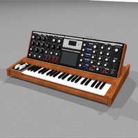 Moog Voyager: Synthesizer Keyboard: C4D Model