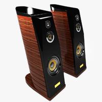 speaker hi-fi 3d max