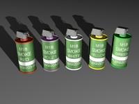 3d model m18 smoke grenade