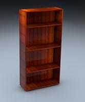 free book bookshelf 3d model