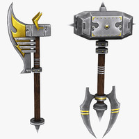 melee weapons 3d model
